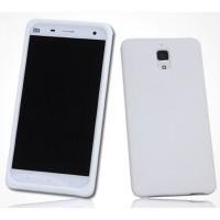 Силиконовый матовый софт-тач премиум чехол для Xiaomi Mi4 Белый