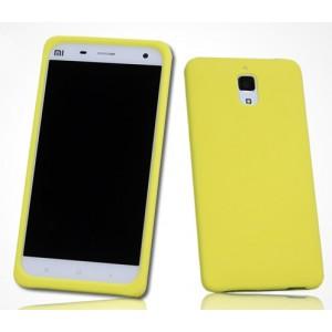 Силиконовый матовый софт-тач премиум чехол для Xiaomi Mi4 Желтый