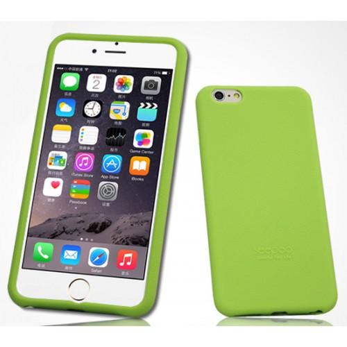 Силиконовый матовый софт-тач премиум чехол для Iphone 6 Plus Розовый
