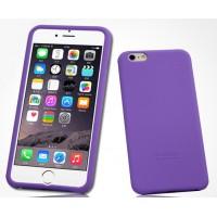 Силиконовый матовый софт-тач премиум чехол для Iphone 6 Plus Фиолетовый