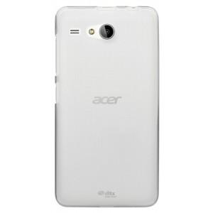 Силиконовый матовый полупрозрачный чехол для Acer Liquid Z520 Белый
