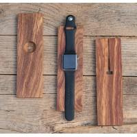 Натуральная деревянная подставка для зарядки Apple Watch