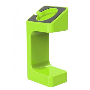 Поликарбонатная подставка для зарядки Apple Watch Series 1/2/3/4 Зеленый