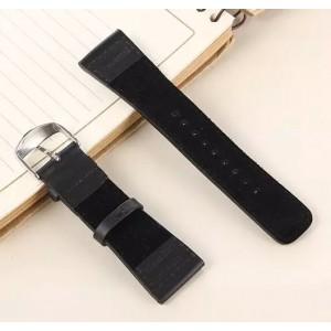 Кожаный винтажный ремешок с металлическим коннектором для Apple Watch 38мм Черный