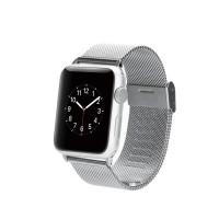 Сетчатый мелкозернистый браслет из нержавеющей гипоаллергенной стали для Apple Watch 38мм