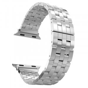 Браслет из нержавеющей гипоаллергенной ювелирной стали пятисегментный для Apple Watch 42мм
