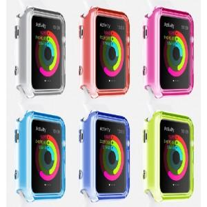 Силиконовый полупрозрачный чехол для Apple Watch 38мм
