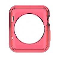 Силиконовый полупрозрачный чехол для Apple Watch 42мм Красный