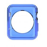 Силиконовый полупрозрачный чехол для Apple Watch 42мм Синий