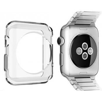 Силиконовый транспарентный чехол для Apple Watch Series 1 38мм
