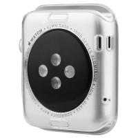 Силиконовый полупрозрачный чехол повышенной защиты для Apple Watch 38мм
