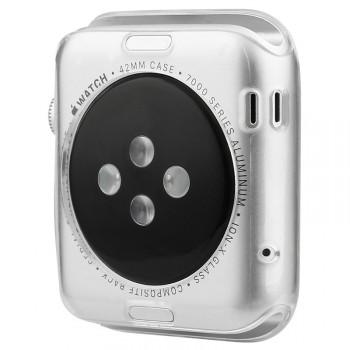 Силиконовый полупрозрачный чехол повышенной защиты для Apple Watch 42мм