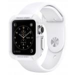 Силиконовый ударостойкий чехол с дополнительной защитой задней поверхности для Apple Watch 42мм