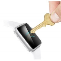 Ультратонкое износоустойчивое сколостойкое олеофобное защитное стекло-пленка на плоскую часть экрана для Apple Watch 38мм