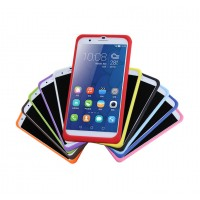 Силиконовый матовый софт-тач премиум чехол для Huawei Honor 6 Plus