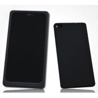 Силиконовый матовый софт-тач премиум чехол для Huawei P8 Черный