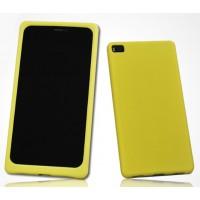 Силиконовый матовый софт-тач премиум чехол для Huawei P8 Желтый