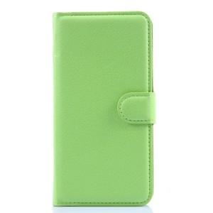 Чехол портмоне подставка с защелкой для Lenovo S90 Зеленый