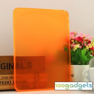 Силиконовый матовый полупрозрачный чехол для Samsung Galaxy Tab 4 10.1 Оранжевый