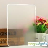 Силиконовый матовый полупрозрачный чехол для Samsung Galaxy Tab 4 10.1 Белый