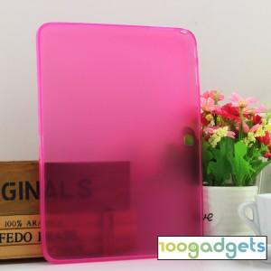 Силиконовый матовый полупрозрачный чехол для Samsung Galaxy Tab 4 10.1 Пурпурный