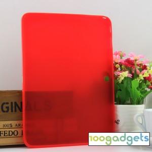 Силиконовый матовый полупрозрачный чехол для Samsung Galaxy Tab 4 10.1 Красный