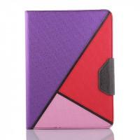 Дизайнерский чехол подставка с внутренними отсеками на силиконовой основе для Samsung Galaxy Tab 4 10.1 Фиолетовый