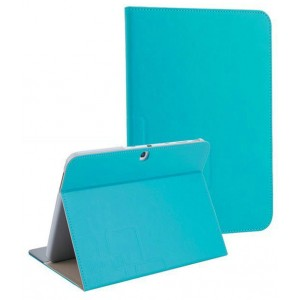 Чехол подставка текстурный для Samsung Galaxy Tab 4 10.1 Голубой
