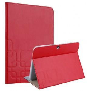 Чехол подставка текстурный для Samsung Galaxy Tab 4 10.1 Красный