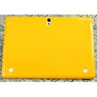 Силиконовый матовый полупрозрачный чехол для Samsung Galaxy Tab S 10.5 Желтый