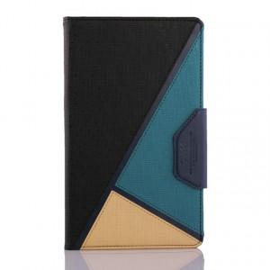 Дизайнерский чехол подставка с внутренними отсеками на силиконовой основе для Samsung Galaxy Tab S 8.4 Черный