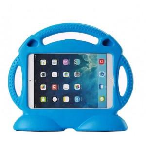 Антиударный силиконовый детский чехол подставка с ручкой для Ipad Air 2 Синий