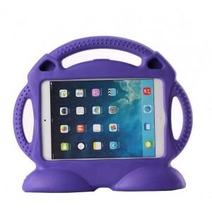 Антиударный силиконовый детский чехол подставка с ручкой для Ipad Air Фиолетовый