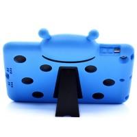 Антиударный силиконовый детский чехол с ножкой-подставкой для Ipad Air Голубой