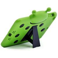 Антиударный силиконовый детский чехол с ножкой-подставкой для Ipad Air Зеленый
