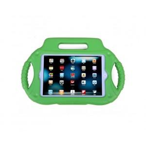 Антиударный силиконовый детский чехол с ножкой-подставкой и ручками для Ipad Mini 1/2/3 Зеленый