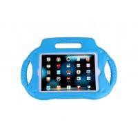 Антиударный силиконовый детский чехол с ножкой-подставкой и ручками для Ipad Mini 1/2/3 Голубой