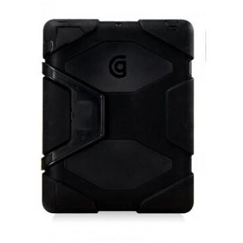 Гибридный антиударный чехол подставка силикон/поликарбонат для Ipad Mini Черный