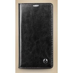 Кожаный чехол портмоне для Sony Xperia SP Черный