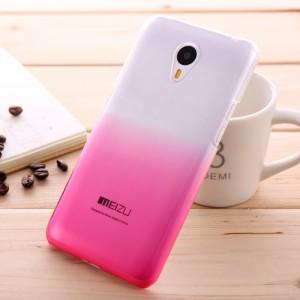 Пластиковый градиентный полупрозрачный чехол для Meizu M2 Note Пурпурный