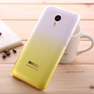 Пластиковый градиентный полупрозрачный чехол для Meizu M2 Note Желтый