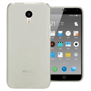 Силиконовый матовый полупрозрачный чехол для Meizu M2 Note Белый