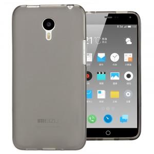 Силиконовый матовый полупрозрачный чехол для Meizu M2 Note Черный