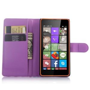Чехол портмоне подставка с защелкой для Microsoft Lumia 540 Фиолетовый