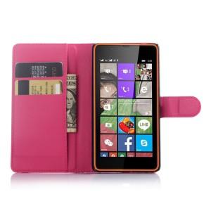 Чехол портмоне подставка с защелкой для Microsoft Lumia 540