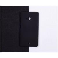 Пластиковый матовый непрозрачный чехол для Microsoft Lumia 540 Черный