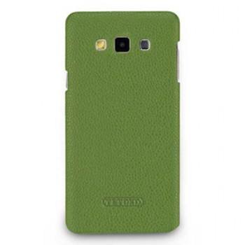Кожаный чехол накладка (нат. кожа) для Samsung Galaxy A7