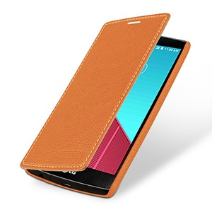 Кожаный чехол горизонтальная книжка (нат. кожа) для LG G4