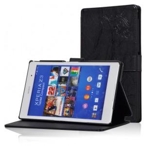 Чехол подставка текстурный для Sony Xperia Z3 Tablet Compact Черный