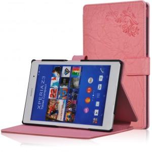 Чехол подставка текстурный для Sony Xperia Z3 Tablet Compact Розовый